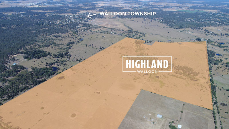 Highland Walloon Location Map