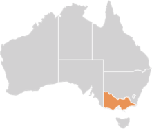 Australia Icon with Victoria highlighted
